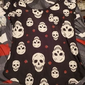 Skull and Rose Top
